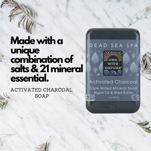 Activated Charcoal Soap with Dead Sea Minerals