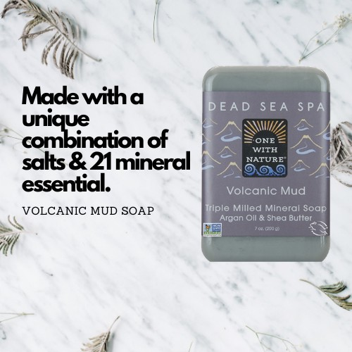 Dead Sea Mineral Volcanic Mud Soap